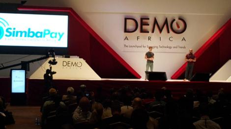 Team SimbaPay on stage at Demo Africa 2015